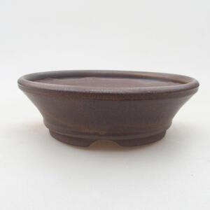 Keramická bonsai miska 14,5 x 14,5 x 4,5 cm, barva hnědá