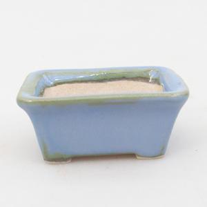 Mini-Bonsaischale 6 x 4,5 x 2,5 cm, Farbe blau