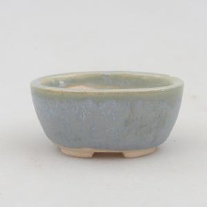 Mini-Bonsaischale 4,5 x 3,5 x 2 cm, Farbe blau