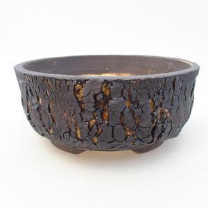 Keramická bonsai miska 17,5 x 17,5 x 7,5 cm, barva žlutá