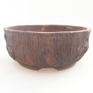 Keramická bonsai miska 14 x 14 x 5,5 cm, barva režná
