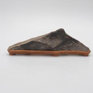 Suiseki - Stein mit DAI (Holzmatte)