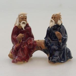 Keramikfigur - Paar Spieler