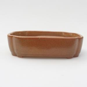 Keramik Bonsaischale 15,5 x 11 x 5,5 cm, Farbe braun