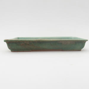 Keramik Bonsaischale 15,5 x 12,5 x 2 cm, Farbe grün