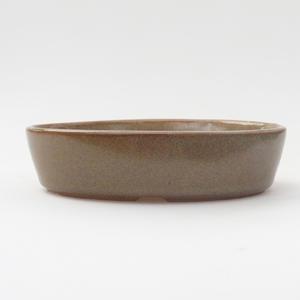 Keramik Bonsai Schüssel 16 x 11 x 4 cm, braune Farbe