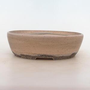Bonsai miska 25,5 x 20 x 7,5 cm, barva šedobéžová