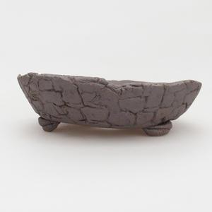 Keramik Bonsai Schüssel 16 x 16 x 5 cm, braune Farbe