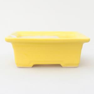 Keramik Bonsai Schüssel 11,5 x 9 x 4 cm, gelbe Farbe
