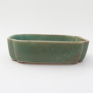 Keramik Bonsaischale 18 x 12,5 x 5 cm, Farbe grün