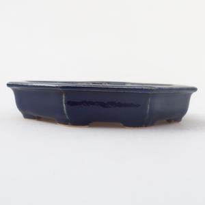 Keramik Bonsaischale 11,5 x 11,5 x 2 cm, Farbe blau