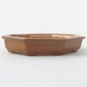 Keramik Bonsai Schüssel 11,5 x 11,5 x 2 cm, braune Farbe