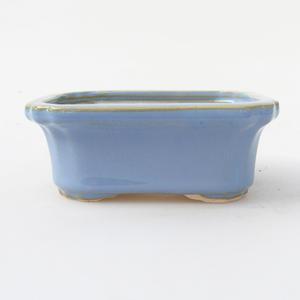 Keramik Bonsai Schüssel 10,5 x 8,5 x 4 cm, blaue Farbe