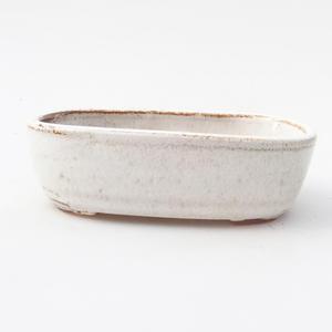 Keramik Bonsai Schüssel 12,5 x 8 x 3,5 cm, weiße Farbe