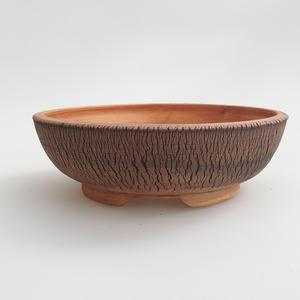 Keramik Bonsaischale 18 x 18 x 5,5 cm, Farbe braun