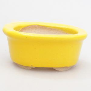 Mini Bonsai Schüssel 4,5 x 4 x 2 cm, gelbe Farbe