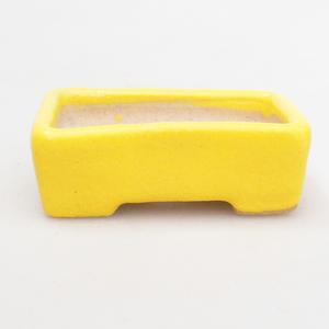 Mini Bonsai Schüssel 4,5 x 3 x 1,5 cm, gelbe Farbe