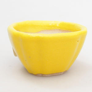 Mini Bonsai Schüssel 4,5 x 4,5 x 2,5 cm, gelbe Farbe