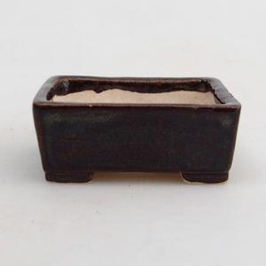 Mini-Bonsaischale 4 x 3,5 x 1,5 cm, Farbe braun