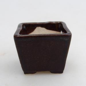 Mini-Bonsaischale 3,5 x 3,5 x 2,5 cm, Farbe braun