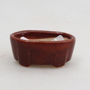 Mini-Bonsaischale 4 x 2,5 x 1,5 cm, Farbe braun