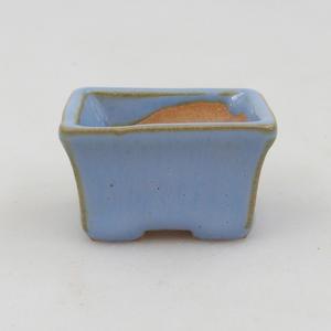 Mini-Bonsaischale 4 x 3 x 2,5 cm, Farbe blau