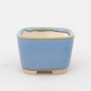 Mini-Bonsaischale 3,5 x 3,5 x 2,5 cm, Farbe blau