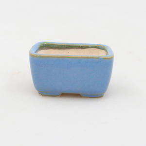 Mini-Bonsaischale 4,5 x 3 x 2,5 cm, Farbe blau