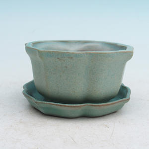 Bonsai-Schale und Tablett mit Wasser H95, grün