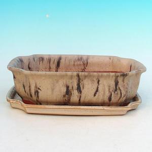 bonsai miska i zasobnik wody H03 +, beige