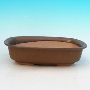 Bonsaischale aus Keramik H 02 - 19 x 13,5 x 5 cm, schwarz - 19 x 13,5 x 5 cm