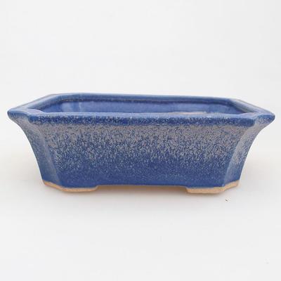 Keramische Bonsai-Schale 13 x 10,5 x 4 cm, Farbe blau - 1