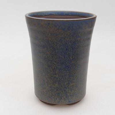 Keramische Bonsai-Schale 10 x 10 x 13,5 cm, Farbe blau - 1