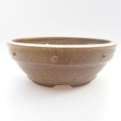 Keramische Bonsai-Schale - 19 x 19 x 7 cm, Farbe gelb - 1