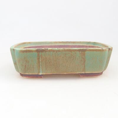 Keramische Bonsai-Schale 17,5 x 14,5 x 5 cm, Farbe grün - 1