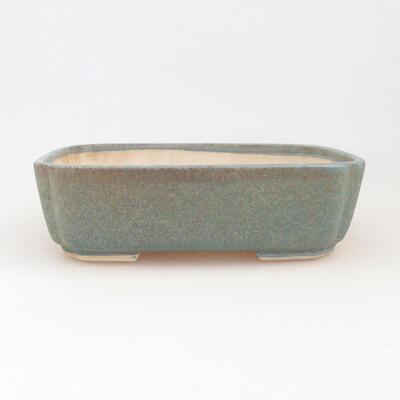 Keramische Bonsai-Schale 17,5 x 14,5 x 5 cm, Farbe blau - 1