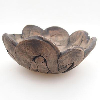 Keramikschale 12 x 12 x 6 cm, graue Farbe - 1