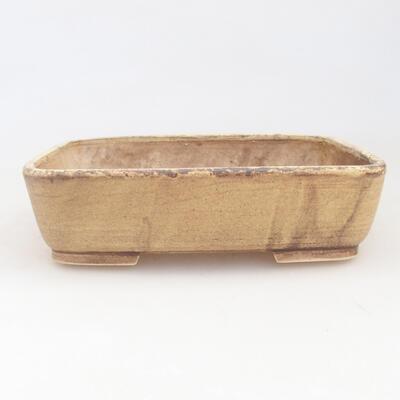 Keramische Bonsai-Schale 17 x 14 x 4,5 cm, Farbe gelb - 1