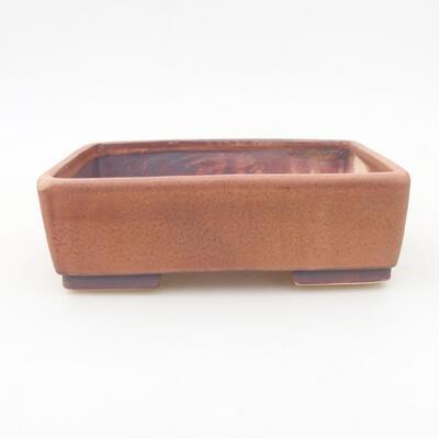 Keramische Bonsai-Schale 14,5 x 11,5 x 4,5 cm, braune Farbe - 1
