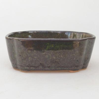 Keramische Bonsai-Schale 12,5 x 10 x 4,5 cm, graugrüne Farbe - 1