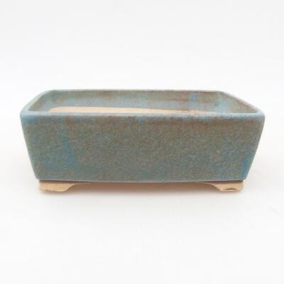 Keramische Bonsai-Schale 14,5 x 11,5 x 4,5 cm, Farbe grün - 1