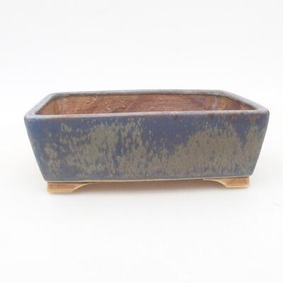 Keramische Bonsai-Schale 14,5 x 11,5 x 4,5 cm, Farbe blau - 1