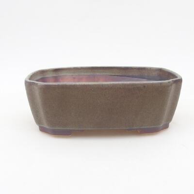 Keramische Bonsai-Schale 16,5 x 14 x 5,5 cm, graue Farbe - 1