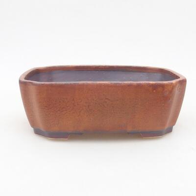 Keramische Bonsai-Schale 16,5 x 14 x 5,5 cm, braune Farbe - 1