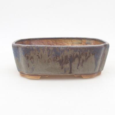 Keramische Bonsai-Schale 16,5 x 14 x 5,5 cm, Farbe blau - 1