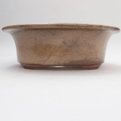 Keramische Bonsai-Schale 19 x 15 x 6 cm, Farbe braun - 1
