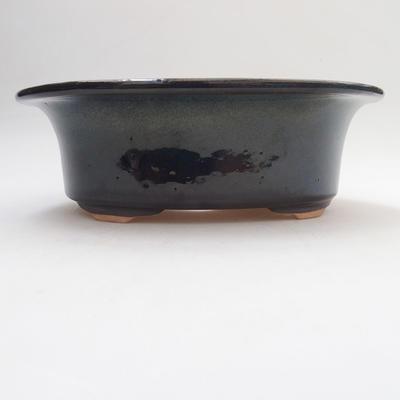 Keramische Bonsai-Schale 19 x 15 x 6 cm, Farbe schwarz - 1