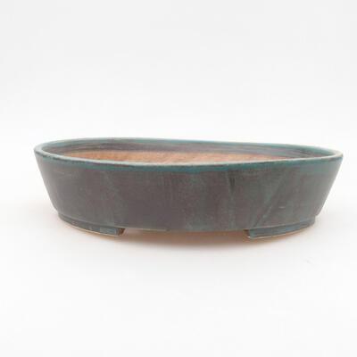 Keramische Bonsai-Schale 22,5 x 20 x 5 cm, Farbe grün - 1