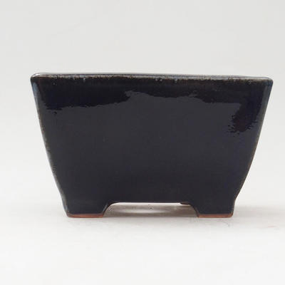 Keramische Bonsai-Schale 9,5 x 9,5 x 5,5 cm, Farbe blau - 1