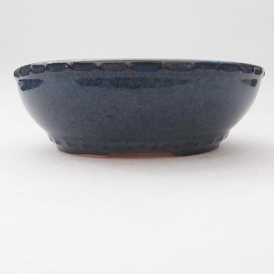 Keramische Bonsai-Schale 17,5 x 17,5 x 5,5 cm, Farbe blau - 1
